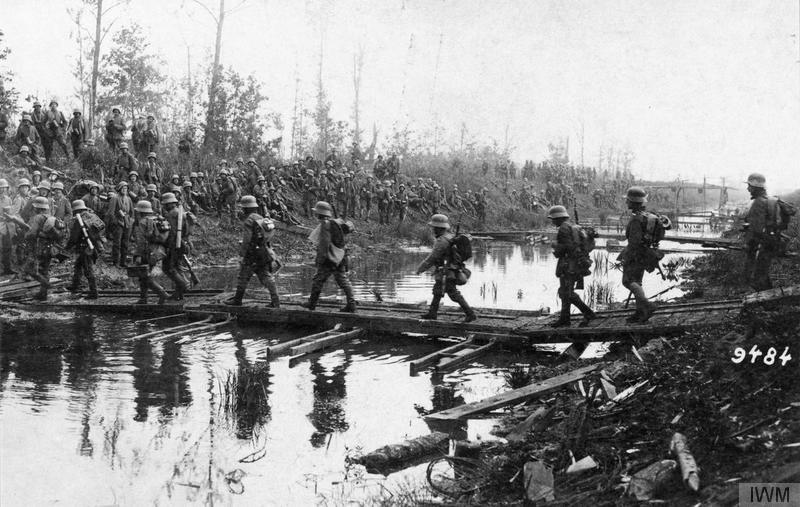 German soldiers advance Blucher May 1918