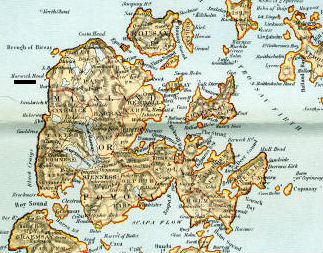 orkney map small edit